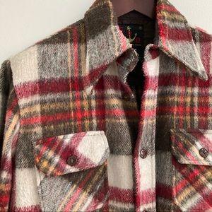 Vintage Wool Shirt Jacket M
